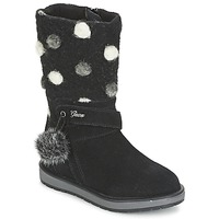 Shoes Girl High boots Geox NOHA Black