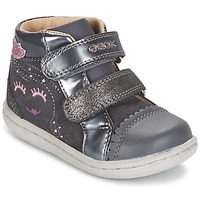 Shoes Girl Hi top trainers Geox B FLICK GIRL Grey