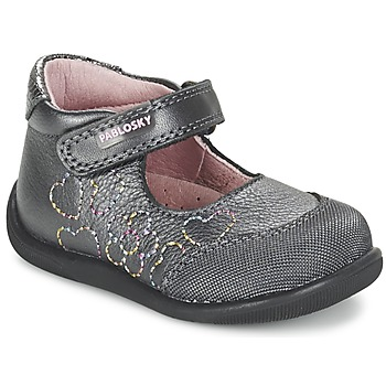 Shoes Girl Flat shoes Pablosky JOUBEK Grey