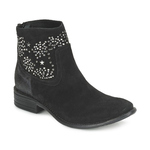Shoes Women Ankle boots Meline VELOURS STARTER Black