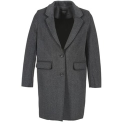 Clothing Women coats Eleven Paris TABLEAUBIS Grey / Black