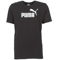 Clothing Men short-sleeved t-shirts Puma ESS NO1 LOGO TEE Black