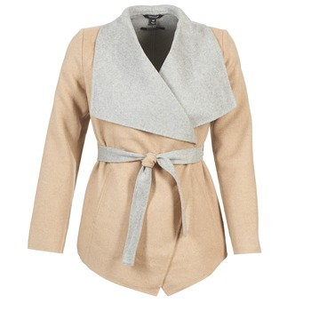 Clothing Women coats Tom Tailor JAZOUVE Beige / Grey