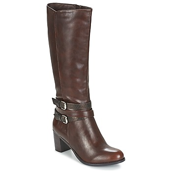 Shoes Women High boots Moony Mood FARANDO Brown