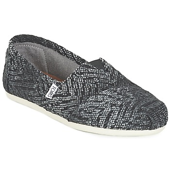 Shoes Women Slip ons Toms SEASONAL CLASSIC Grey