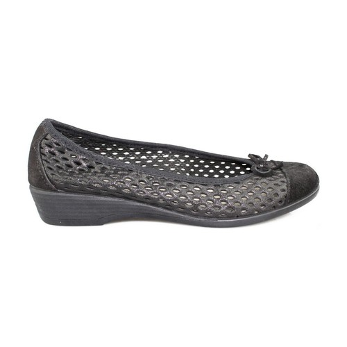 Shoes Women Flat shoes Vulladi CRAQUELE BLACK