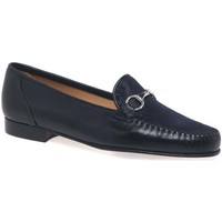 Shoes Women Loafers Charles Clinkard Charm Womens Moccasins blue