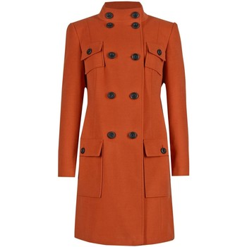Clothing Women coats Anastasia - Womens Copper 4 Pocket DB Military Coat Orange