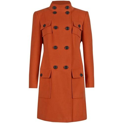 Clothing Women Coats Anastasia - Womens Copper 4 Pocket DB Military Coat Orange