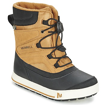 Shoes Children Snow boots Merrell SNOW BANK 2.0 WTPF TAN / Black
