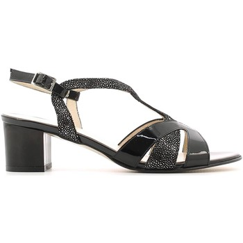 Shoes Women Sandals Grace Shoes E6481 High heeled sandals Women Black Black