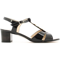 Shoes Women Sandals Grace Shoes E6483 High heeled sandals Women Black Black