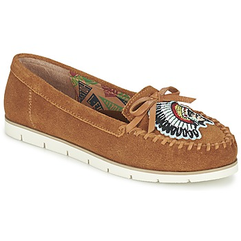 Shoes Women Loafers Miss L'Fire CHIEFTAIN CAMEL