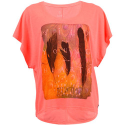Clothing Women short-sleeved t-shirts Watts Sleeve T-Shirt Woman  Patta Neon Pink