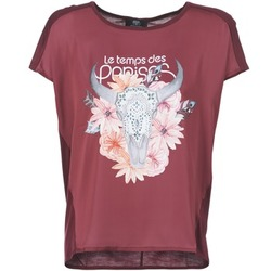 Clothing Women short-sleeved t-shirts Le Temps des Cerises CRANEFLO BORDEAUX