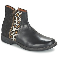 Shoes Girl Mid boots Shwik TIJUANA WILD Black / Leopard / Gold