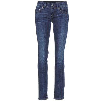 Clothing Women straight jeans G-Star Raw MIDGE SADDLE MID STRAIGHT Stretch / DENIM / DK / Aged
