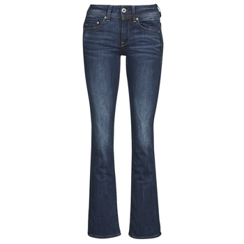 Clothing Women bootcut jeans G-Star Raw MIDGE SADDLE MID BOOTLEG Stretch / DENIM / DK / Aged