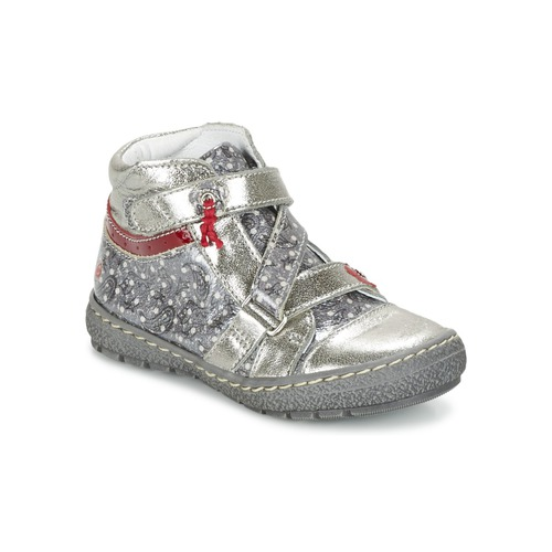 Shoes Girl Mid boots GBB NADETTE Grey / Printed