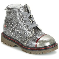 Shoes Girl Mid boots GBB NEVA Grey / Printed