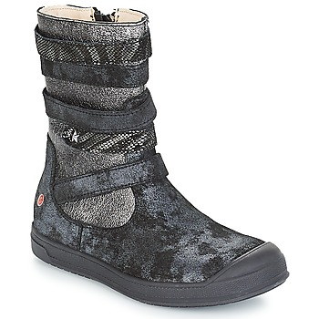 Shoes Girl High boots GBB NOURIA Black / Metallic