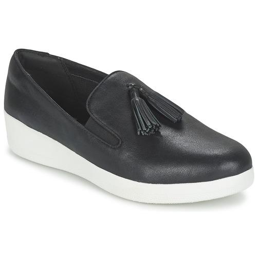 Shoes Women Slip-ons FitFlop TASSEL SUPERSKATE Black