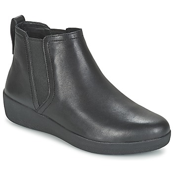 Shoes Women Mid boots FitFlop SUPERCHELSEA BOOT  BLACK