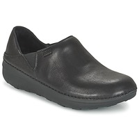 Shoes Women Clogs FitFlop SUPERLOAFER (LEATHER) Black