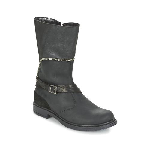 Shoes Girl High boots Ikks FLORA Black
