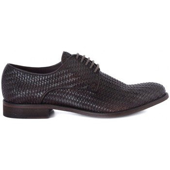 Shoes Men Derby Shoes Kammi BRECOS VITELLO INTRECCIATO Marrone