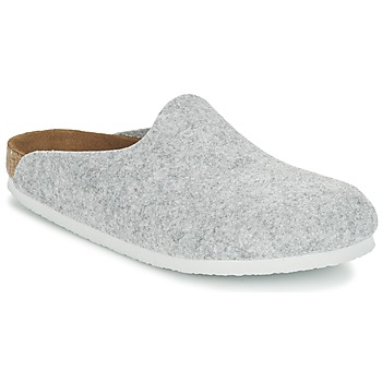 Shoes Women Mules Birkenstock AMSTERDAM Grey / Clear