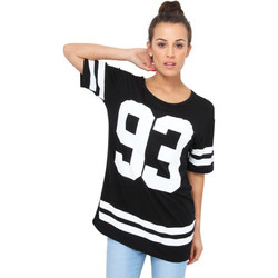 Clothing Women short-sleeved t-shirts Krisp 93' Print Baseball T-shirt Black