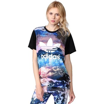 Clothing Women short-sleeved t-shirts adidas Originals Originals Mountain Clash Black