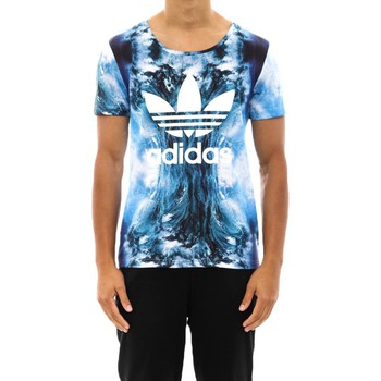 Clothing Men short-sleeved t-shirts adidas Originals Originals ZX8K Hyperrealistic Blue