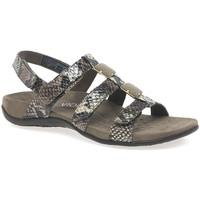 Shoes Women Sandals Vionic Amber Womens Riptape Sandals brown