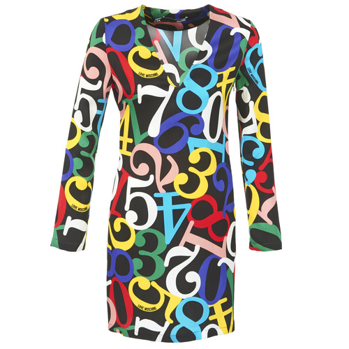 Clothing Women Short Dresses Love Moschino PICHANI Multicolour