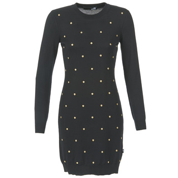 Clothing Women Short Dresses Love Moschino JACHI Black / Gold