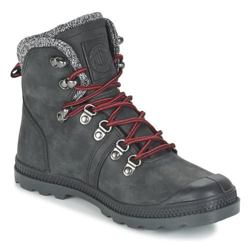 Shoes Women Mid boots Palladium PALLABROUSSE HIKING Black