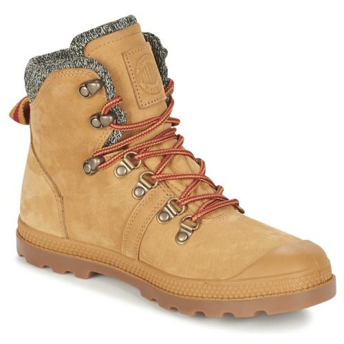 Shoes Women Mid boots Palladium PALLABROUSSE HIKING Honey
