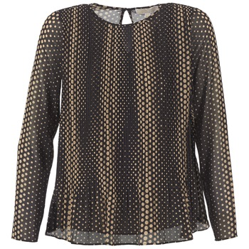 Clothing Women Tops / Blouses MICHAEL Michael Kors OMBOBO Black / BEIGE
