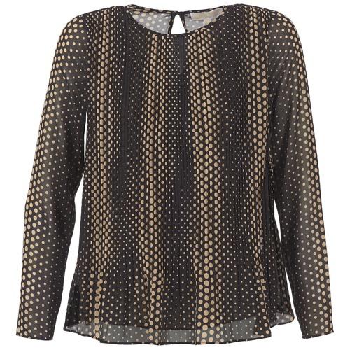 Clothing Women Tops / Blouses MICHAEL Michael Kors OMBOBO Black / Beige