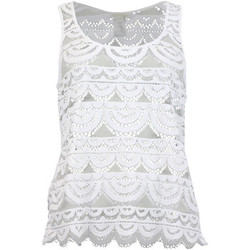 Clothing Women Tops / Sleeveless T-shirts Pilyq Lace Tank White Tank 2017-01-11 00:00:00