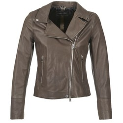 Clothing Women Leather jackets / Imitation leather Oakwood 62049 Grey / Clear