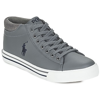 Shoes Boy Hi top trainers Ralph Lauren HARRISON MID Grey