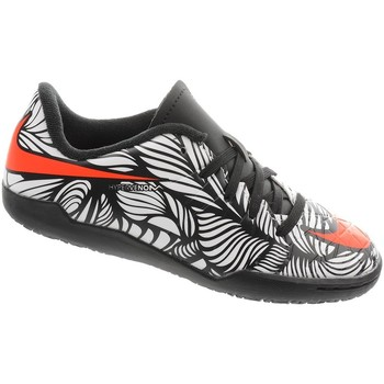 Shoes Boy Low top trainers Nike JR Hypervenom Phelon II Njr IC Red-Black-White