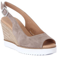 Shoes Women Sandals Frau CAMOSCIO TAUPE Marrone