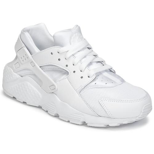Shoes Boy Low top trainers Nike HUARACHE RUN JUNIOR White