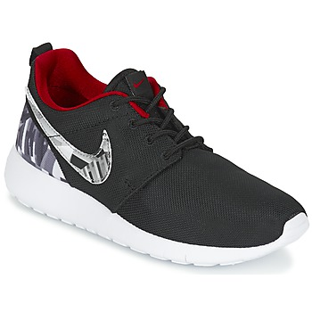 Shoes Boy Low top trainers Nike ROSHE ONE PRINT JUNIOR Black / White / Red