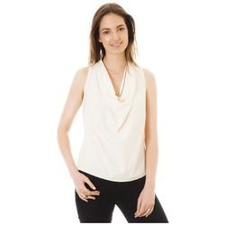 Clothing Women Tops / Sleeveless T-shirts Little Marcel Débardeur Tina Ecru White