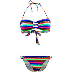 Clothing Women Bikinis Lolita Angel 2 Pieces Multicolor Bandeau Swimsuit Rio Charm Acapulco Smile MULTICOLOUR